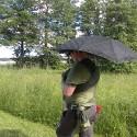 sjal och paraply